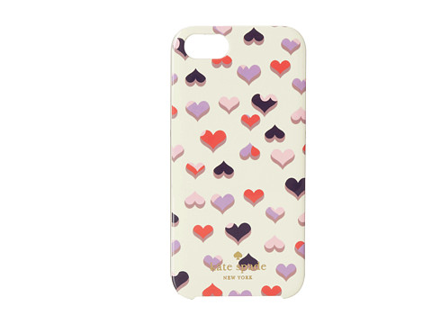 Kate Spade New York - Heart To Heart Resin Phone Case for iPhone 5 and 5s (Multi) Cell Phone Case