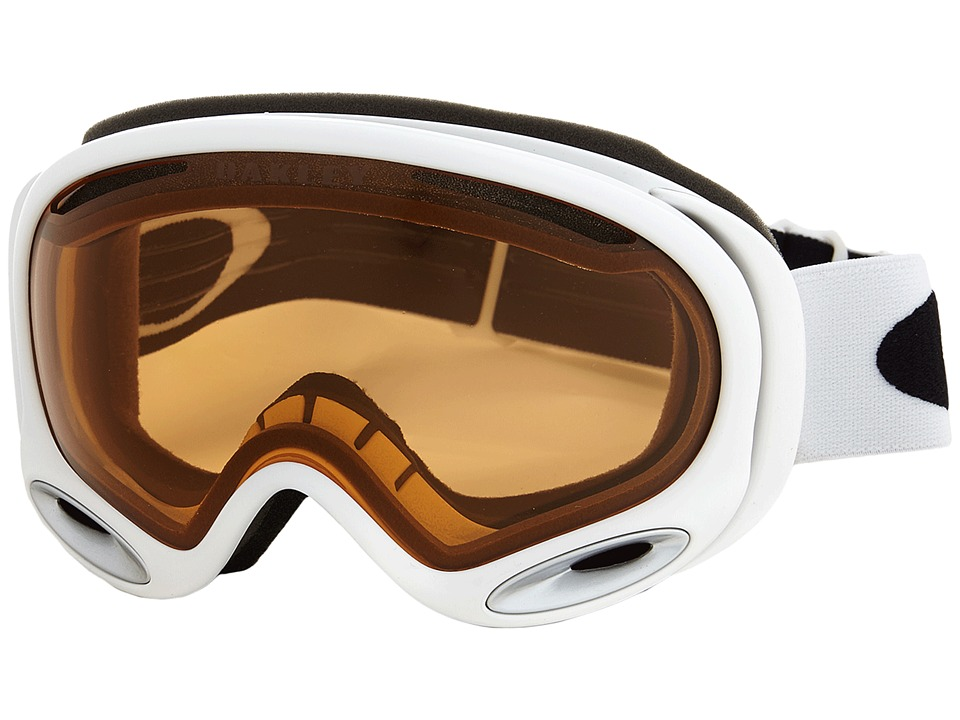Oakley - A-Frame 2.0 (Polished White w/ Persimmon) Snow Goggles