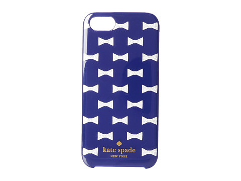 Kate Spade New York - Sparkle Bows Resin Phone Case for the iPhone 5 and 5s (French Navy/Silver Glitter) Cell Phone Case