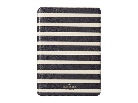 Kate Spade New York - Cedar Street Stripe Ipad Air Hardcase (Off Shore/Pebble) Computer Bags