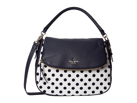 Kate Spade New York - Cobble Hill Canvas Dot Devin (Off Shore/White) Cross Body Handbags
