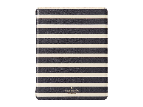 Kate Spade New York - Space Mariner Stripe iPad Folio Hardcase (Off Shore/Pebble) Computer Bags