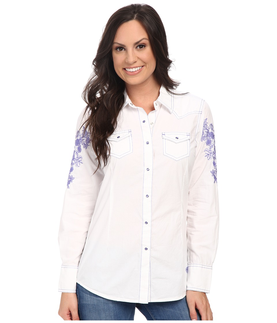 Ariat - Iris Snap Shirt (White) Women's Long Sleeve Button Up