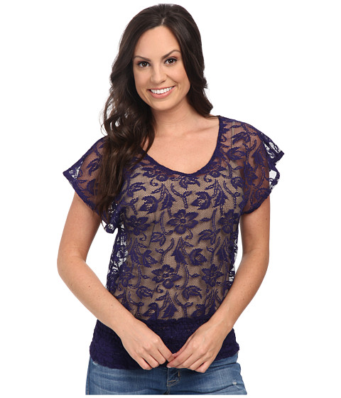 Ariat - Medallion Top (Deep Purple) Women's Short Sleeve Pullover