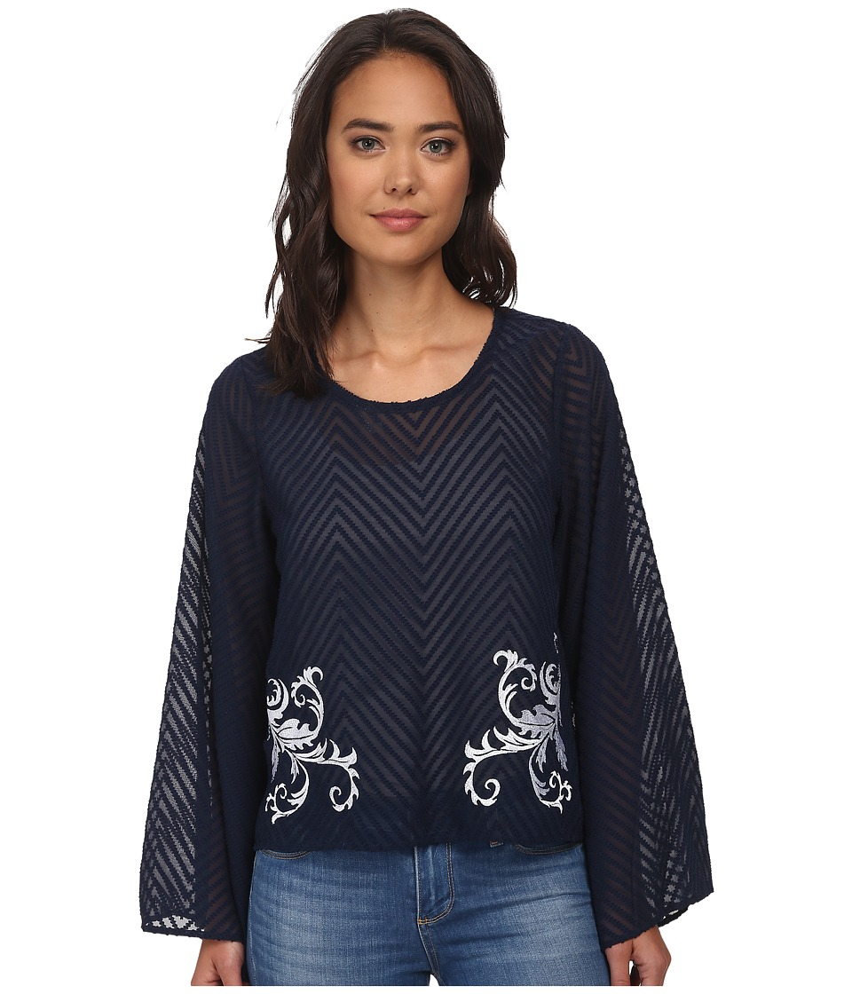 Ariat - Chevron Top (Dress Blues) Women's Blouse