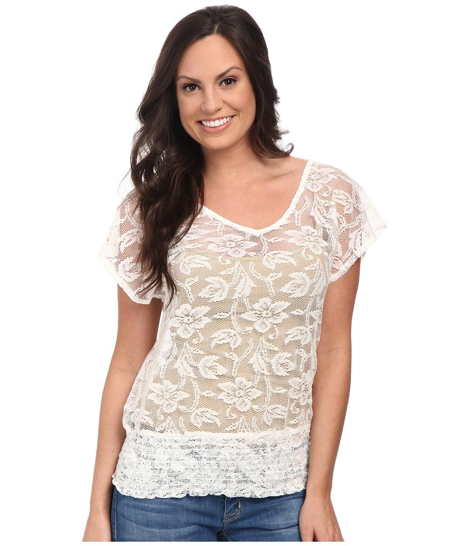 Ariat - Medallion Top (White) Women's Short Sleeve Pullover