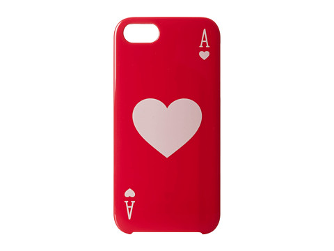 Kate Spade New York - Ace Of Hearts Resin Phone Case for iPhone 5 and 5s (Aladdin Pink) Cell Phone Case