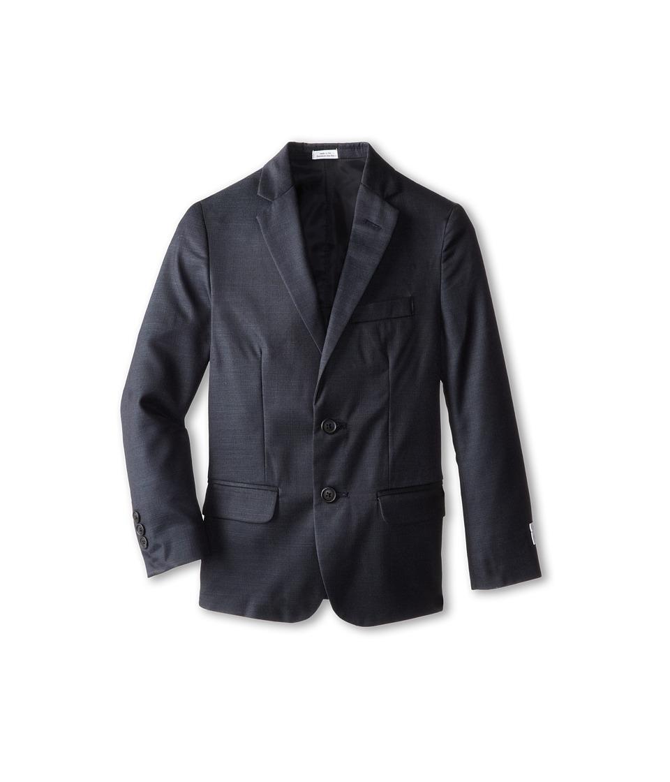 Calvin Klein Kids - Slub Pindot Jacket (Big Kids) (Sail Blue) Boy's Coat
