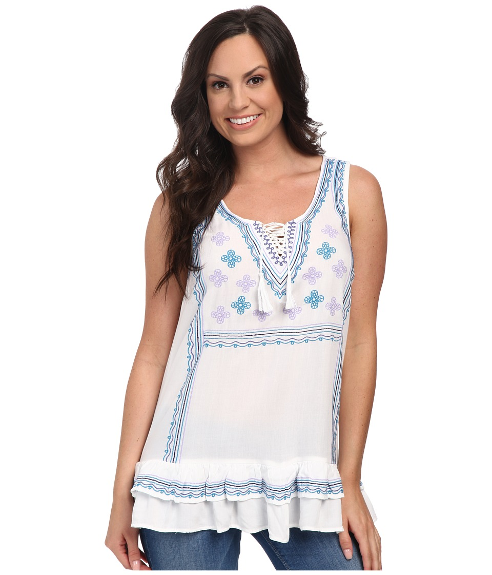Ariat - East Tank Tunic (White) Women's Sleeveless