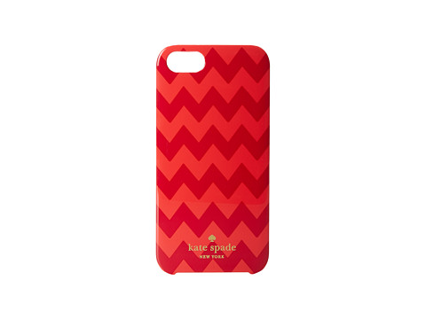 Kate Spade New York - Chevron Resin Phone Case for iPhone 5 and 5s (Aladdin Pink) Cell Phone Case