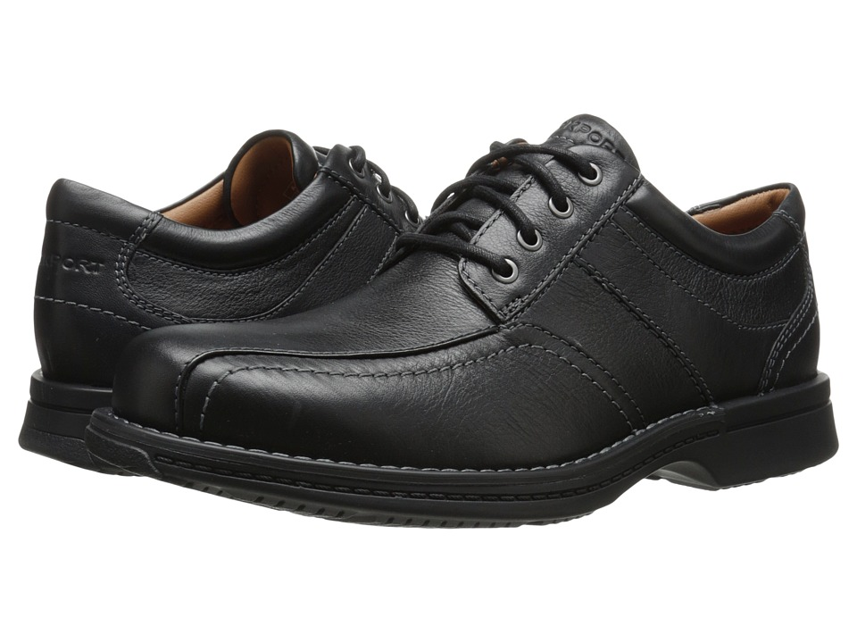 Rockport - Classics Revised Bike Toe Oxford (Black Tumbled Pull Up) Men's Lace-up Bicycle Toe Shoes