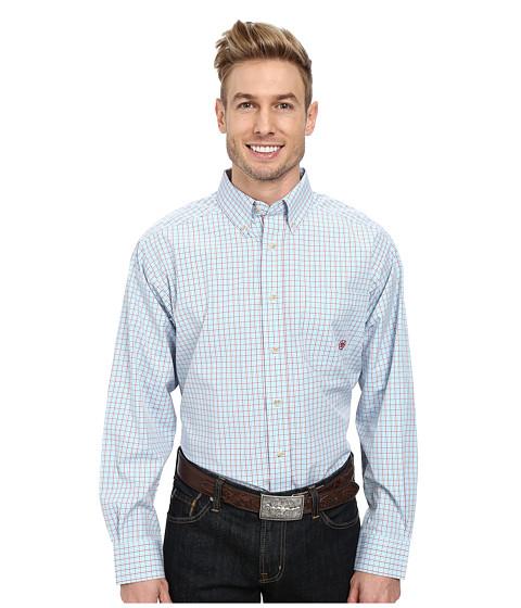 Ariat - Phoenix Performance Shirt (Robins Egg Blue Multi) Men's Long Sleeve Button Up