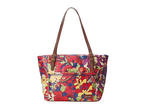 Sakroots - Artist Circle Medium Embellished Satchel (Hot Pink Flower Power) Tote Handbags