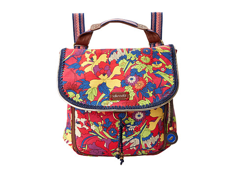 Sakroots - Artist Circle Convertible Backpack (Hot Pink Flower Power) Backpack Bags