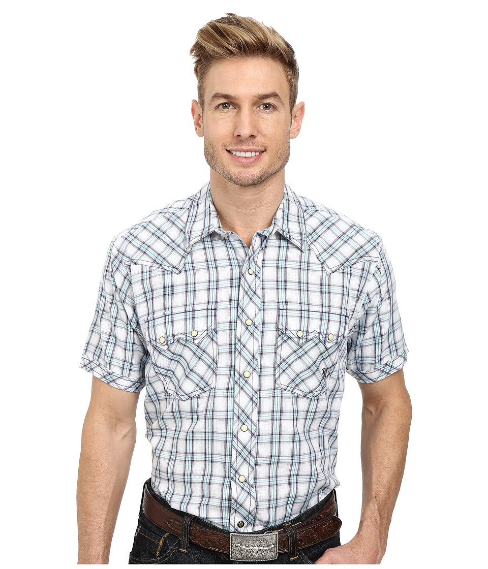 Ariat - Sheridan Short Sleeve Snap (Jacaranda) Men's Long Sleeve Button Up