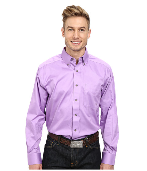 Ariat - Solid Twill Shirt Dusty (Dusty Lavender) Men's Long Sleeve Button Up