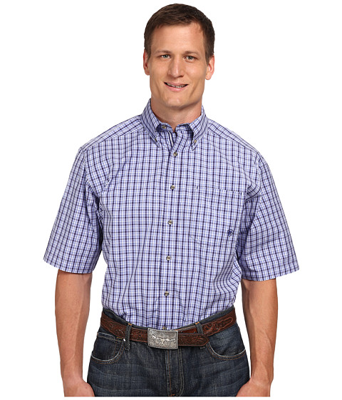 Ariat - Big Tall Thurman Performance Short Sleeve Shirt (Jacaranda) Men's Long Sleeve Button Up