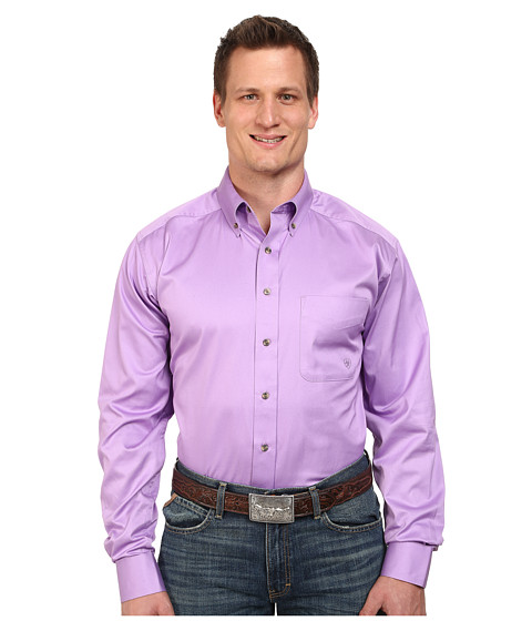 Ariat - Big Tall Solid Twill Shirt (Dusty Lavender) Men's Clothing