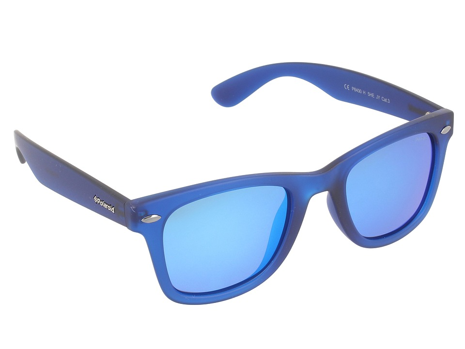 Polaroid Eyewear - P 8400/S (Blue Matte/Gray Blue Mirror Polarized) Fashion Sunglasses