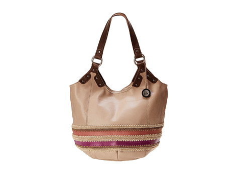 The Sak - Indio Large Tote (Pink Stripe) Shoulder Handbags