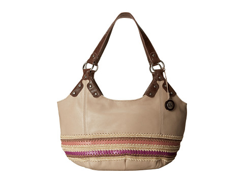 The Sak - Indio Satchel (Pink Stripe) Shoulder Handbags