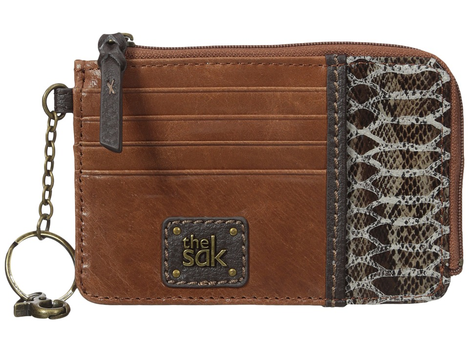 The Sak - Iris Card Wallet (Brown Snake Multi) Wallet Handbags
