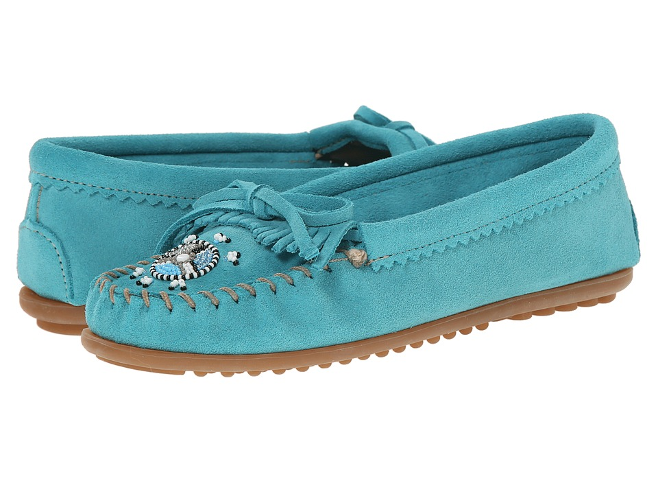 Minnetonka - Me To We Maasai Mocs (Turquoise Suede) Women's Slippers