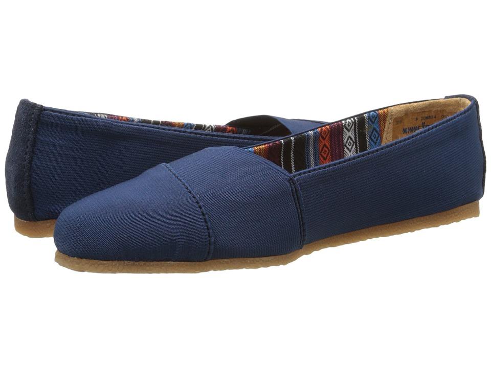 Minnetonka - Eva (Navy Blue Elastic) Women's Flat Shoes