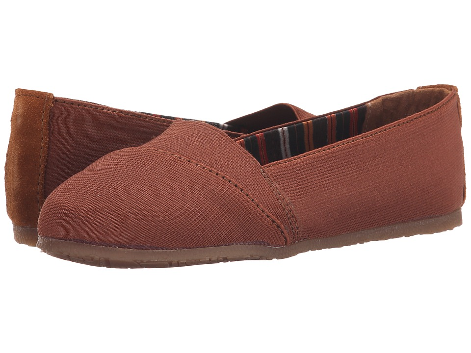Minnetonka - Eva (Brown Elastic) Women's Flat Shoes