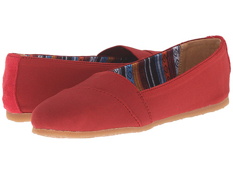 Minnetonka - Eva (Red Elastic) Women's Flat Shoes