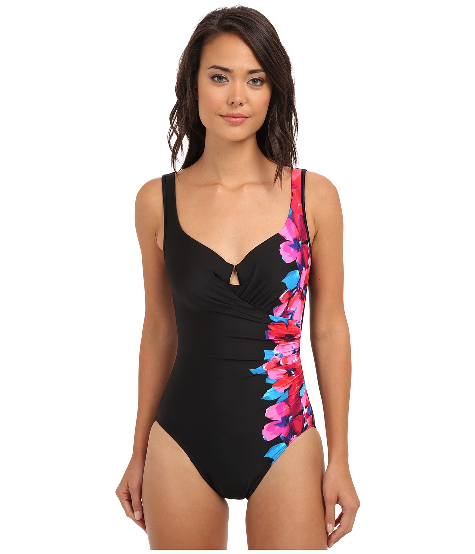 Miraclesuit - Side Course Escape Swimsuit (Black) Women