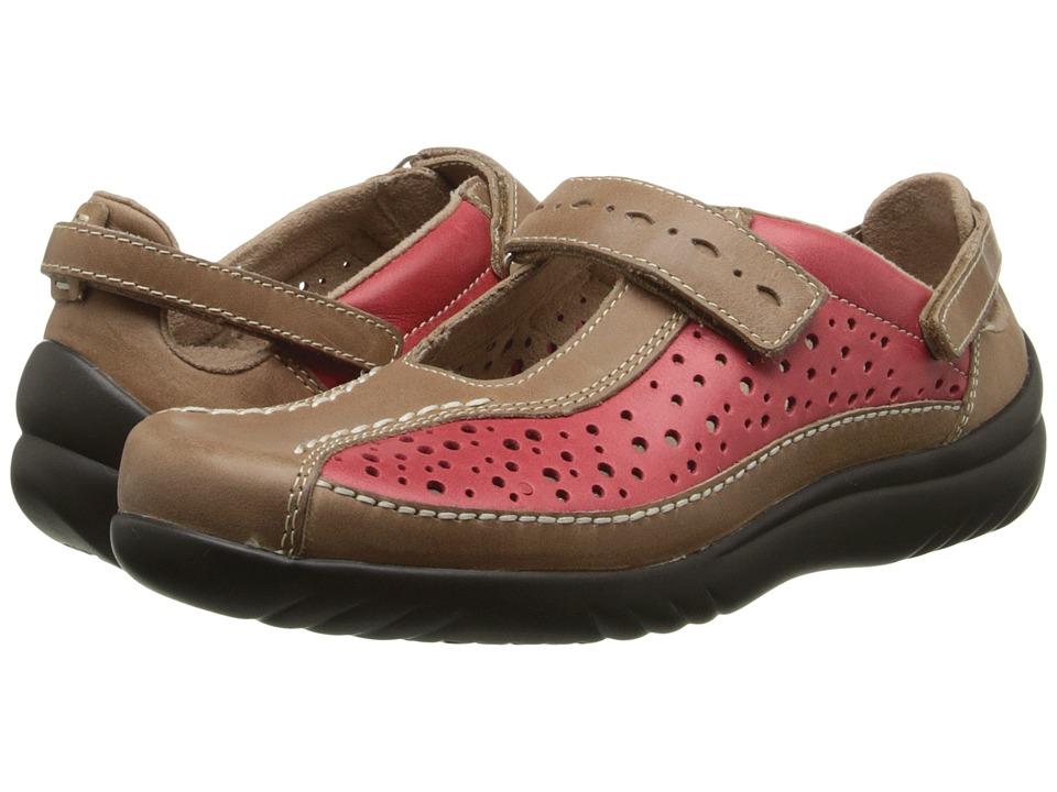 Klogs Footwear Via (Red/Driftwood) Women
