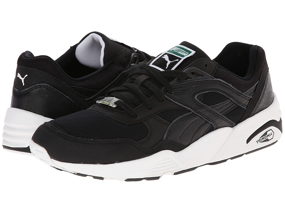 PUMA - Trinomic R698 (Black/White) Men's Classic Shoes
