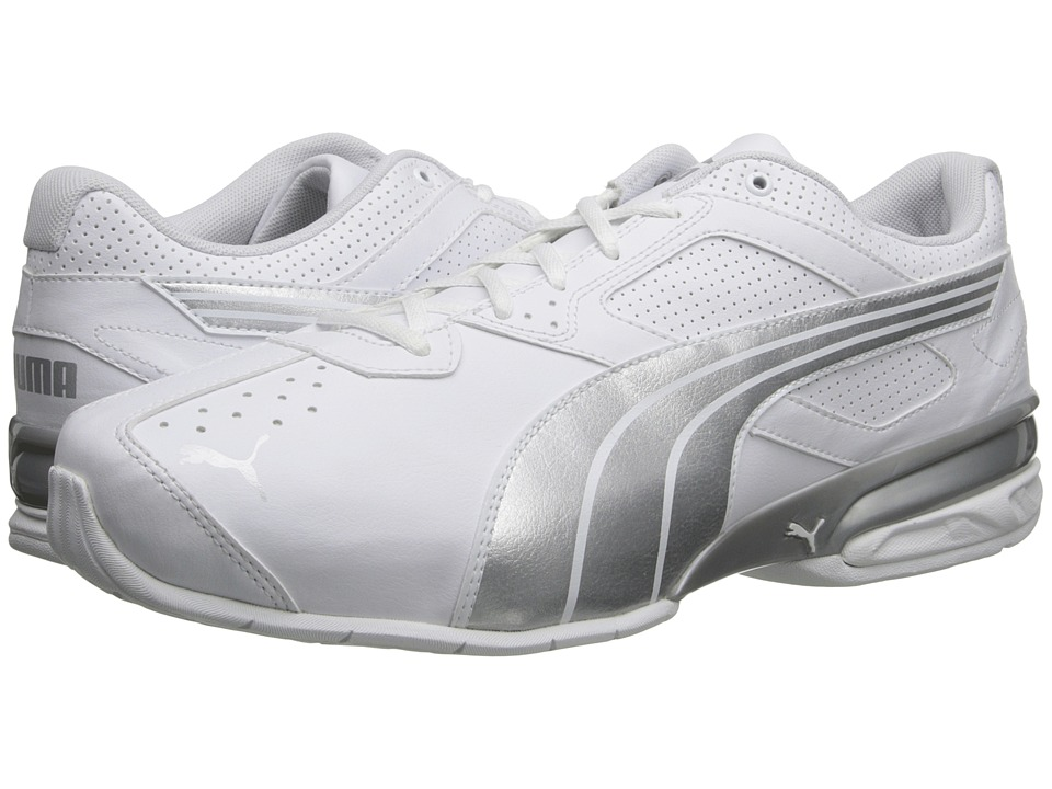 PUMA - Tazon 5 - Wide Width (White/Puma Silver) Men's Classic Shoes