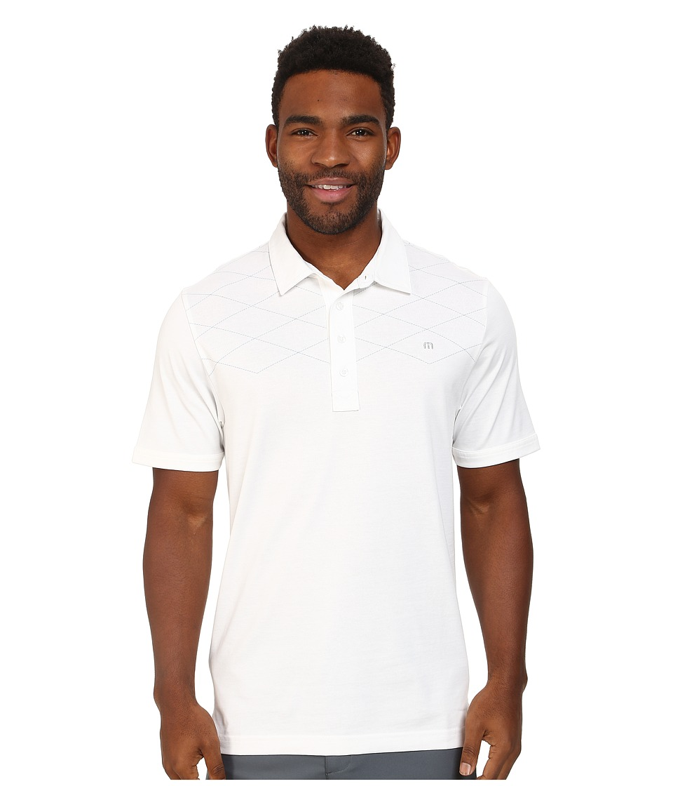 TravisMathew - B-Pindrop Polo Shirt (White) Men's Short Sleeve Knit