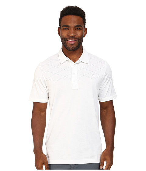TravisMathew - B-Pindrop Polo Shirt (White) Men