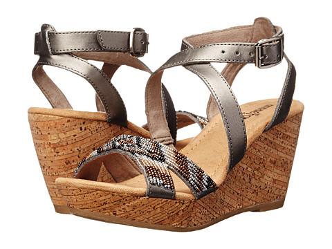 Minnetonka - Zoey II (Pewter/Metallic Beads) Women's Wedge Shoes