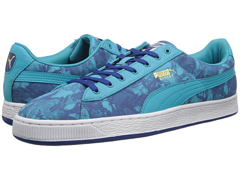 PUMA - Basket Classic Wildfire (Scuba Blue/Limoges/Team Gold) Men