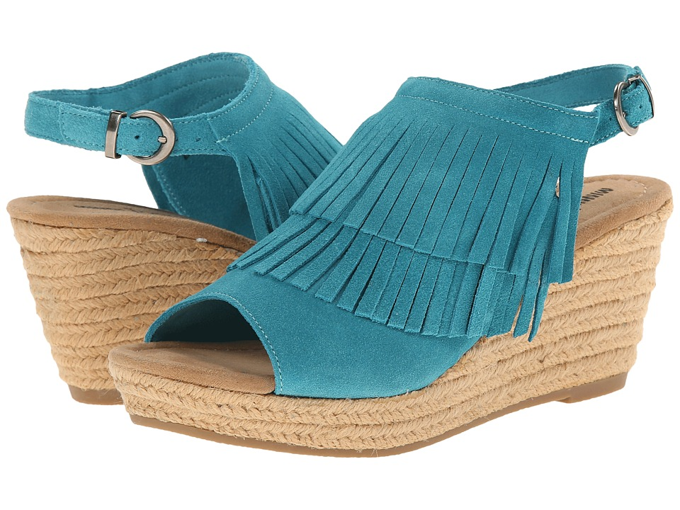 Minnetonka - Ashley (Turquoise Suede) Women's Wedge Shoes