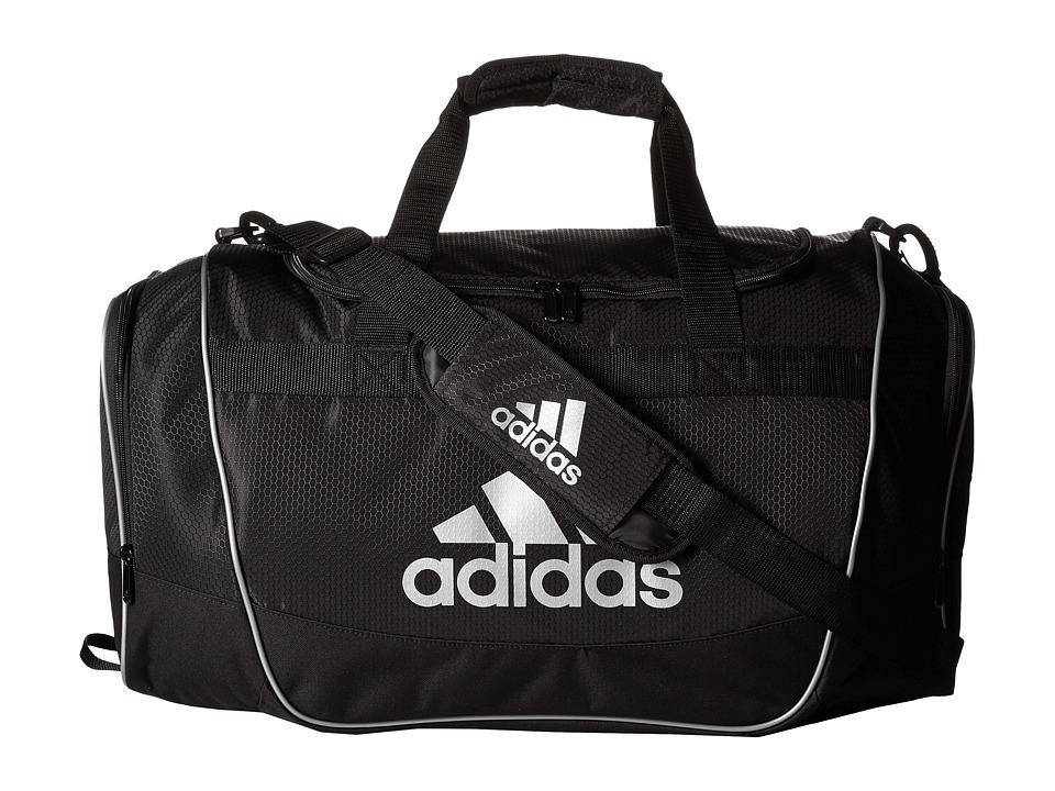 adidas - Defender II Duffel Medium (Black/Silver) Duffel Bags