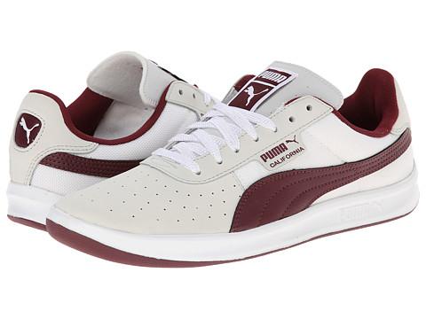 PUMA - California 2 NM (White/Zinfandel) Women's Classic Shoes