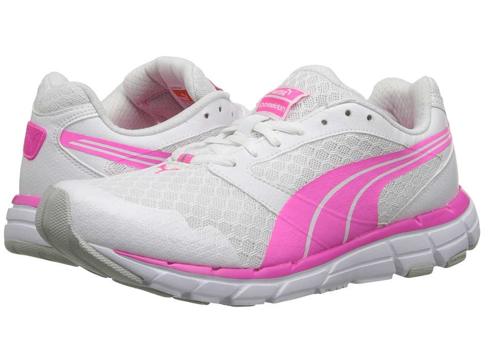 PUMA - Poseidon (White/Fluro Pink CO) Women's Shoes