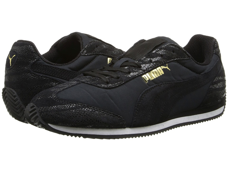 PUMA - Rio Speed Animal (Black/New Gold) Women's Shoes