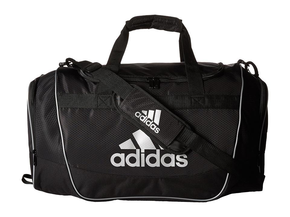 adidas - Defender II Duffel Small (Black/Silver) Duffel Bags