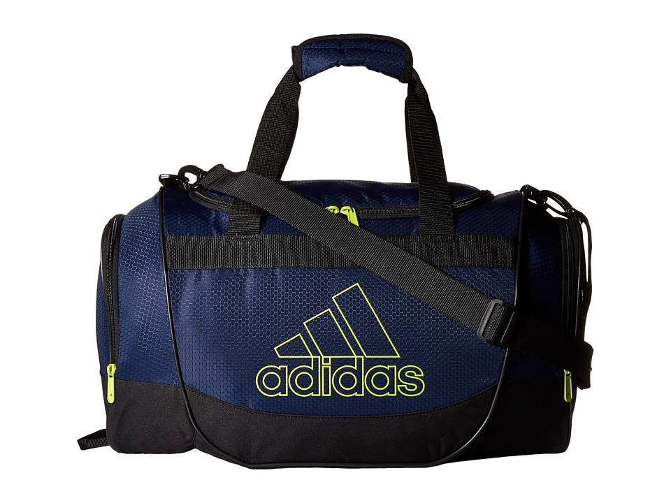 Image of adidas - Defender II Duffel Small (Collegiate Navy/Semi Solar Yellow) Duffel Bags