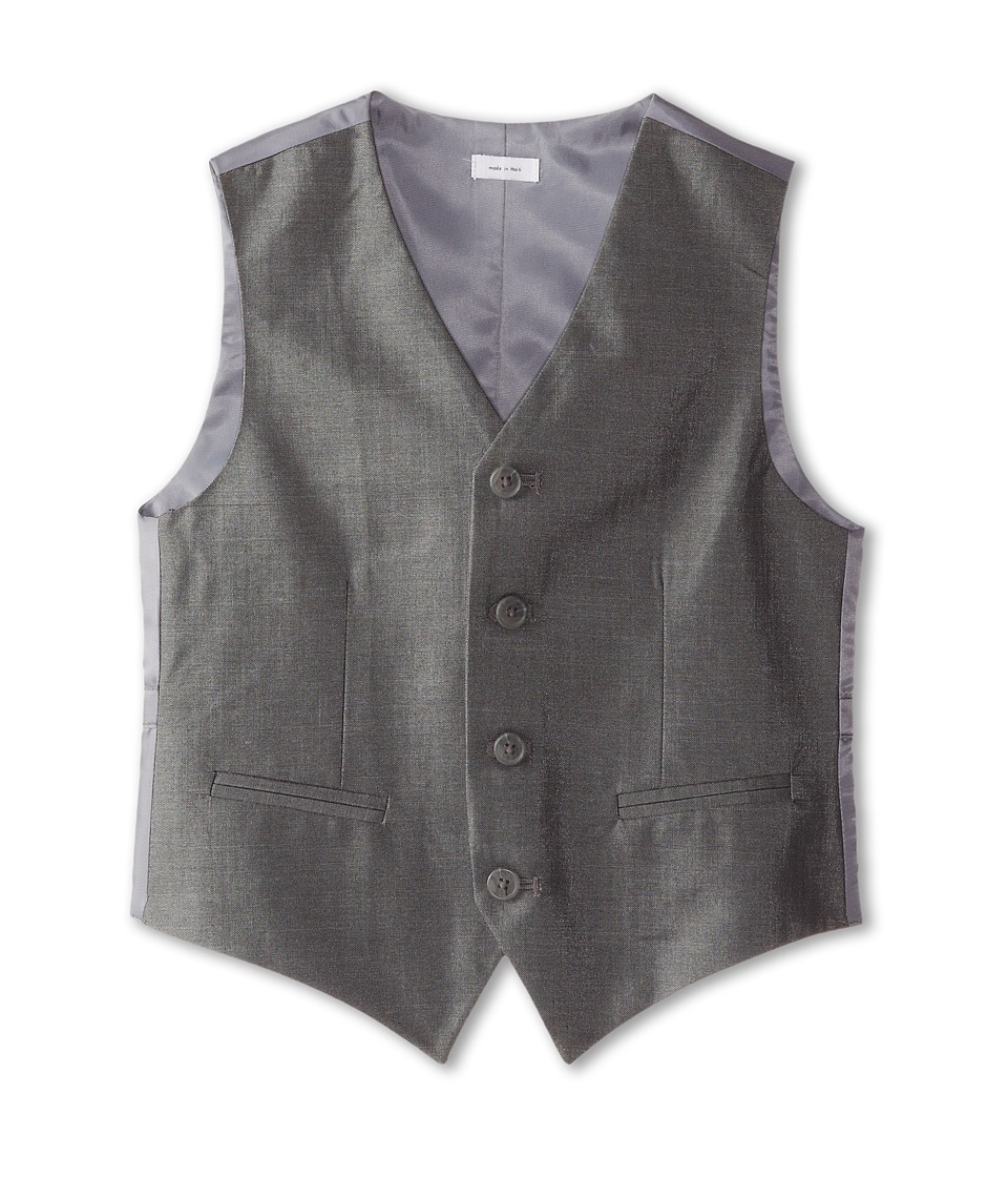 Calvin Klein Kids - Slub Twill Vest (Big Kids) (Light Grey) Boy's Vest