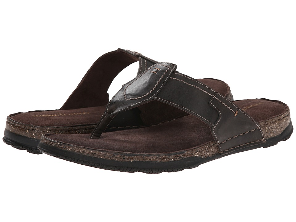 Minnetonka - Hudson (Brown Leather) Men's Sandals