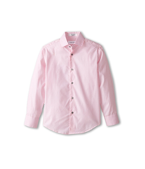 Calvin Klein Kids - Super Micro Stripe L/S Shirt (Big Kids) (Bright Pink) Boy
