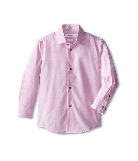 Calvin Klein Kids - Super Micro Stripe L/S Shirt (Little Kids) (Bright Pink) Boy
