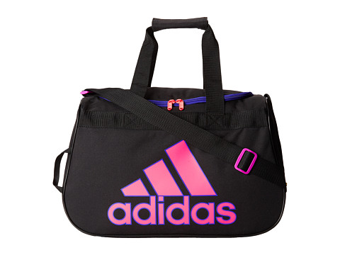 adidas - Diablo Small Duffel (Black/Night Flash/Solar Pink) Duffel Bags